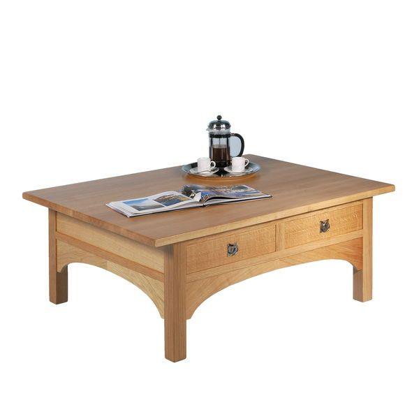 Rustic Coffee Table - Modern Oak Furniture - Tudor Oak, UK