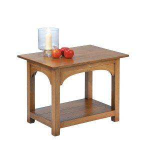 Rustic Side Table - Modern Oak Furniture - Tudor Oak, UK