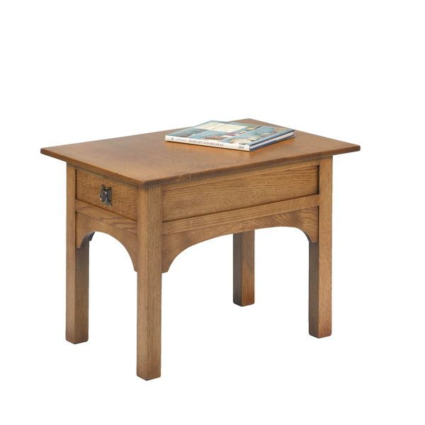 Rustic Lamp Table - Modern Oak Furniture - Tudor Oak, UK