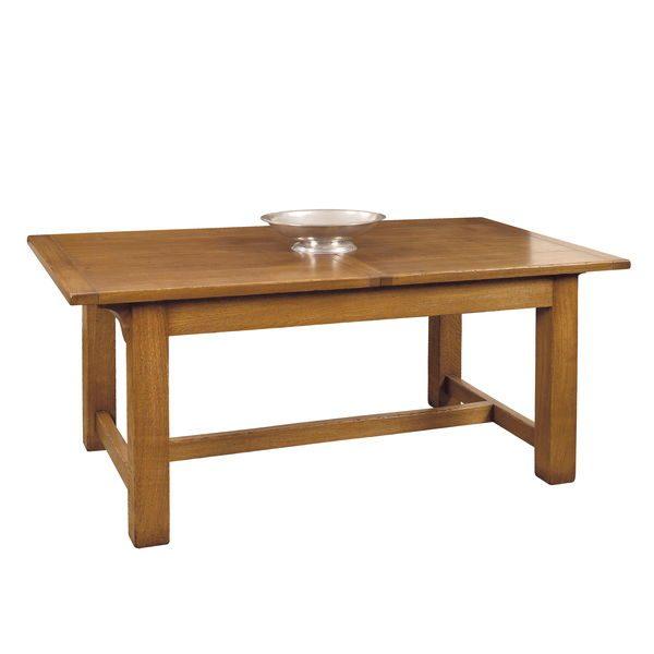 Rustic Extendable Dining Table - Modern Oak Furniture - Tudor Oak, UK